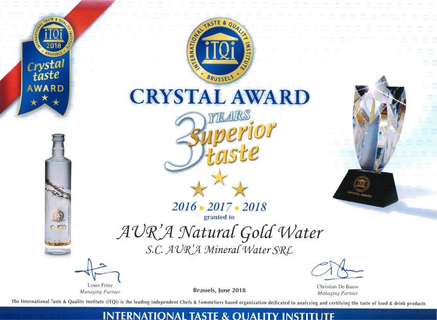 Crystal Taste Award 2018 1.
